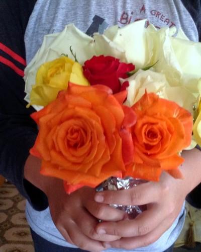 Τα λουλούδια στην κυρία, από 'μένα