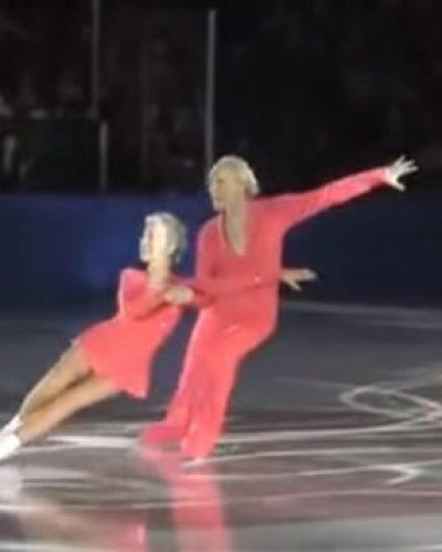 Εκείνος 83 και εκείνη 79 χρόνων, χόρεψαν στον πάγο σαν να ήταν η πρώτη τους φορά