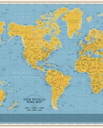 Δείτε έναν εκπληκτικό παγκόσμιο μουσικό χάρτη. Πάνω από 1.000 τίτλοι τραγουδιών τοποθετημένοι στις χώρες και τις πόλεις που αντιστοιχούν. Ποιο τραγούδι διάλεξαν για την Ελλάδα